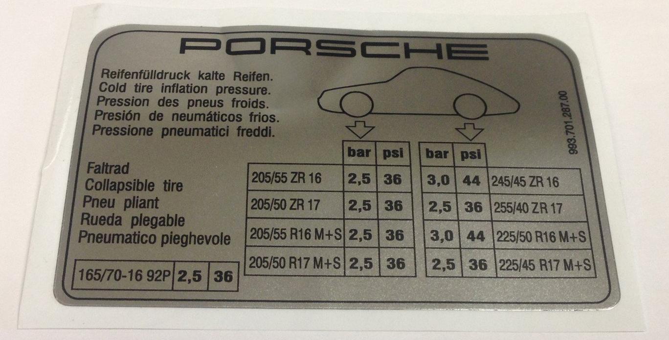 Targhe Solid Foil Porsche Sericart2